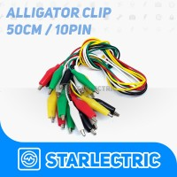 Kabel 10 Set Capit Buaya (50Cm) Alligator Clip