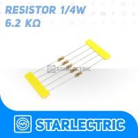 Resistor 6200 6200R 6.2K Ohm 1/4 W 5% 5pcs/pack
