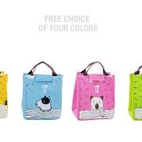 D3D Lunch bag CARTOON tas bekal cooler bag bonus 2pcs jelly ice cooler