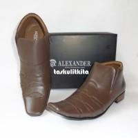 Promo Sepatu Kerja Kantor Pria Formal Full Kulit Sapi Asli Semi Boot da0dc12e69