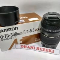 Lensa Tele Zoom TAMRON 70-300 f/4-5.6 Di LD 1:2 MACRO FOR CANON/NIKON