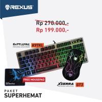 Paket Super Hemat Rexus Mouse Gaming GT3 & Rexus Keyboard Gaming K9TKL