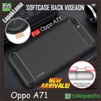 Softcase TPU Viseaon Carbon Fiber Slim Case Cover Casing HP Oppo A71
