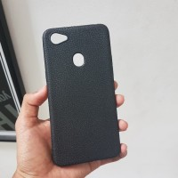 Softcase TPU Black Matte Kulit Jeruk Cover Case Casing HP Oppo F7