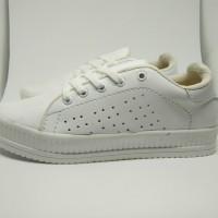 adidas replika/sepatu casual putih polos/sepatu wanita