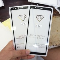 TEMPERED GLASS FULL LEM 5D SAMSUNG G855F GALAXY A8 STAR 2018 BLACK