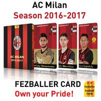 Kartu bola Fezballer Cards AC MILAN season 2016/2017