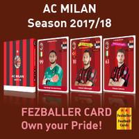 Kartu bola Fezballer Cards AC MILAN season 2017/2018