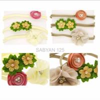 Harga premium jual 3pcs headband nylon bando bayi headband bayi headwrap | WIKIPRICE INDONESIA