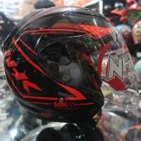 Helm Half Face NHK r6 Airfit Black Line Orange