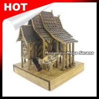 Jual Miniatur Rumah Adat Betang Kalimantan Dari Bambu 14x14x17cm Kab Sleman Modemku Mega Sarana Tokopedia