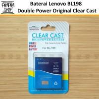 Baterai Clear Cast Double Power Lenovo BL198 A830 A850 A859 Batre Ori