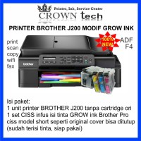 Printer Brother J200 F4 all in one + modif GROW ink Brother Pro