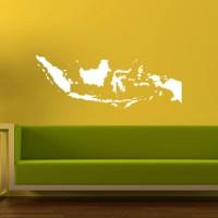 Wall Sticker Peta Indonesia Dinding Kaca Kantor Rumah Kafe Stiker
