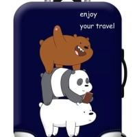 WE BARE BEARS elastic luggage cover pelindung koper size S