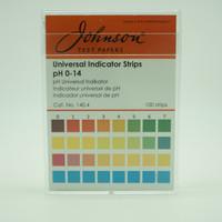 Kertas Lakmus pH Universal Indicator Strips 0-14 100 Strips| Johnson