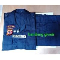 seragam pdl satpam security lapangan biru dongker