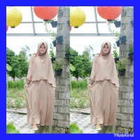 Gamis Manisqu set ori Adzkia Hijab (Mocca)