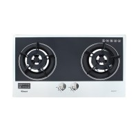Built-in Gas Hob Kompor Gas Tanam 2 Tungku Rinnai RB-2GH-C (MB)