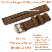 Tali Jam Tangan Military Army 22 MM brown