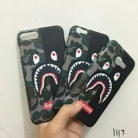 CASING HP BAPE SHARK CUSTOM CASE XIAOMI Samsung OPPO iPhone ASUS VIVO
