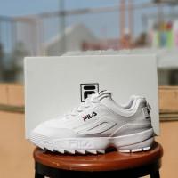 sepatu casual wanita fila disruptor 2 white edition / sneakers putih
