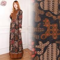 Felicia Dress batik maxi panjang gamis kaftan wanita jumbo fit to L