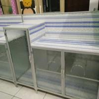 Rak Kompor Aluminium Undak 3pintu Full Keramik Lemari Dapur