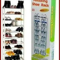 Amazing Shoe Rack/ Rak Sepatu Portable 10 susun/ 30 pasang