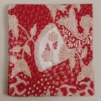 Kain Batik Tulis Kipas Cina Merah Natal