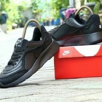 Sepatu Nike Air Max Fullblack Hitam Polos Sekolah Pria Wanita Mur