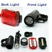 Harga otomotif lampu sepeda depan dan belakang 1 set led | WIKIPRICE INDONESIA