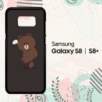 Casing Samsung Galaxy S8 Plus Hardcase HP Brown Line L0035