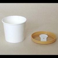 Promo Paper Cup Ice Cream/Es Krim 4 Oz + Tutup Coklat + Sendok Putih