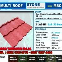 Harga Genteng Metal Berpasir Multi Roof 2x5 Per Lembar