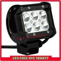 Harga lampu sorot tembak kabut led 6 mata headlamp utama motor   antitipu.com