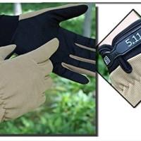 Sarung Tangan Tactical 5.11 Half Gloves Import 511 Model Panjang ORI