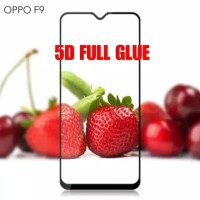 TEMPERED GLASS 5D OPPO F9 F 9 FULL LEM COVER LAYAR HP CURVE 9H