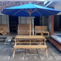 Custom Order Kursi Mejik & Meja Garden Payung Kayu Jati Jepara