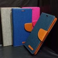 Canvas Diary Case Smartfren Andromax A /Dompet Hp/Cover Hp/Original/Fl