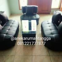 Jual sofa SUDUT hitam putih minimalis PROMO KALEB OSCAR TERLARIS Murah