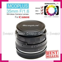 Mcoplus LENS 35MM F1.6 Canon EF-M FIX Lens (FOR EOS M MIRRORLESS)