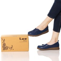 Sepatu wanita slip on model kickers original lee empuk import france