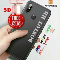 PAKET CASE CASING + TEMPERED GLASS FULL LAYAR HP XIAOMI MI8 MI 8