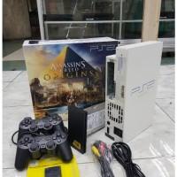 Ps2 fat Multi fungsi OPTIK + HDD160gb full game terbaru