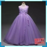 GA2570 RIANA DRESS PURPLE / gaun pesta ulang tahun anak remaja / pagar