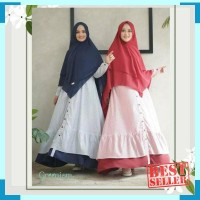 Raline dress gamis katun mix wollycrepe original greenism