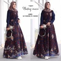 Gamis Batik Modern Baju Muslim Pesta Wanita BATEEQ Ori