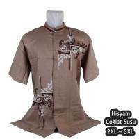 Baju Koko Big Size, Busana Muslim Pria Lengan Pendek Jumbo Me.11