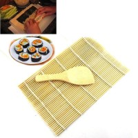 Sendok Centong Nasi + Tikar Bambu Cetakan Tatakan Sushi Roller Matt
